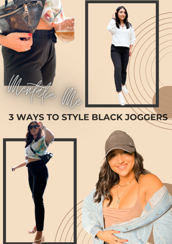 3 Ways To Style Black Joggers